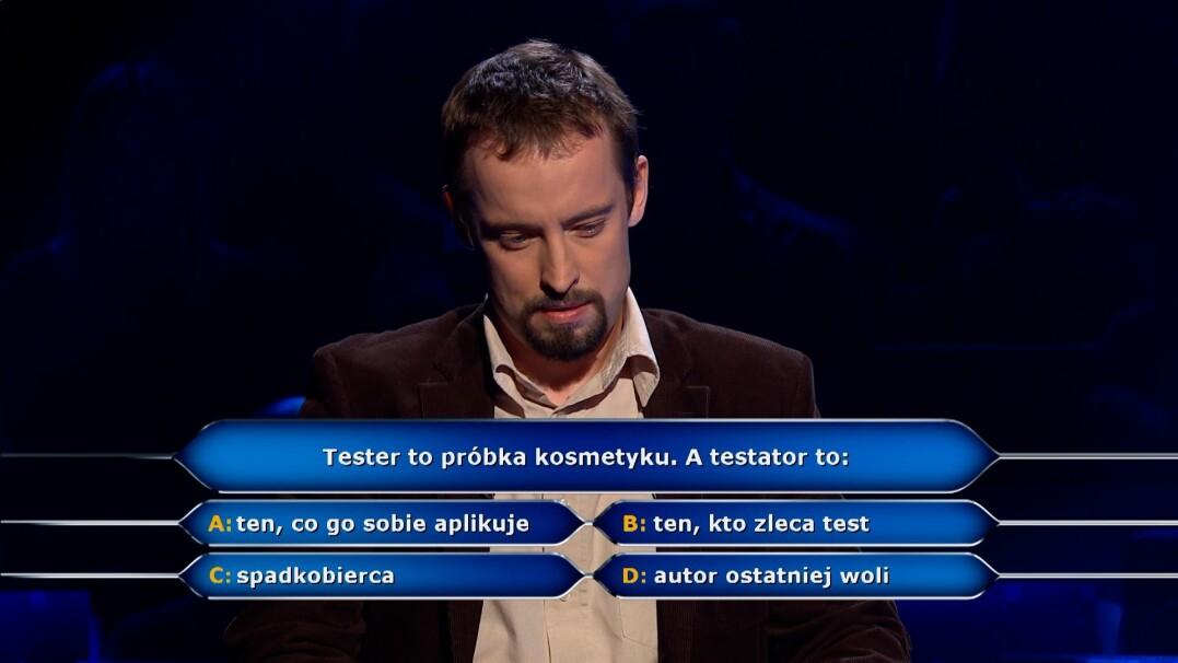 """Kim jest testator? Pytanie z """"Milionerów"""" za 75 tysięcy zł"""