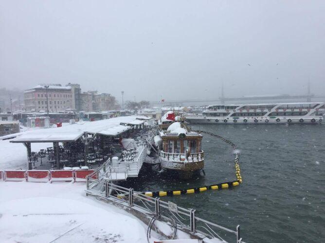 Zimowa aura w Stambule