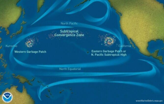 Lokalizacja Wielkiej Pacyficznej Plamy Śmieci