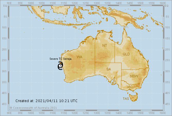 Ostrzeżenia przed cyklonami tropikalnymi (bom.gov.au)