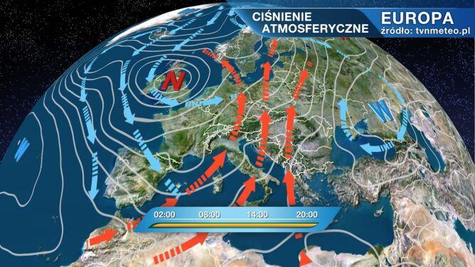 Niż Zed wpływa na pogodę w Polsce