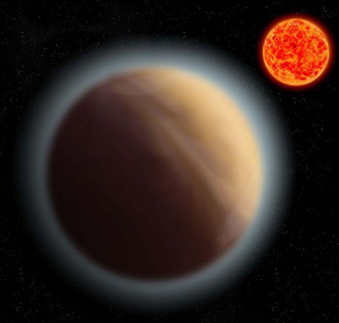 Zdjęcie ilustracyjne: obraz egzoplanety GJ 1132b okrążającej czerwonego karła Gliese 1132 (Instytut Astronomii Maxa Plancka)