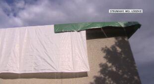 Silny wiatr zrywał dachy z domów