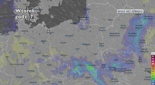Prognozowane opady w najbliższych dniach