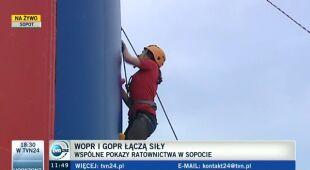 WOPR i GOPR łączą siły we wspólnych ćwiczeniach (TVN 24)
